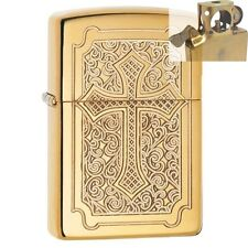Zippo 29436 Deep Carved Cross Lighter with PIPE INSERT PL