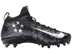 Nike Field General 3 TD American Football Cleats Boots Black Camo UK 10 US 11