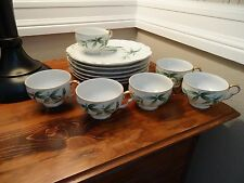 6 Craftsman China Orient serving plates/6 Tea Cups #251 made in Japan (1)
