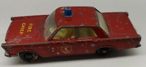 LESNEY MATCHBOX 1966-69 FORD GALAXIE FIRE CHIEF NO 55/59! READ & LEARN!