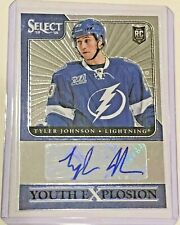 2013 -14 PANINI Select Youth Explosion Tyler Johnson Rookie Auto Book Value $30