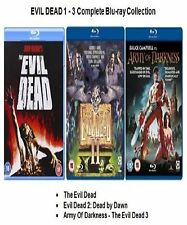 Evil Dead Trilogy Blu Ray Collection Part 1 2 3 Movie Film New Sealed Uk Release