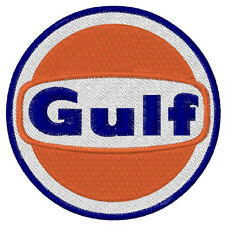 Biker-Racing Fan Aufnäher Gulf OIL  Duchmesser 8cm