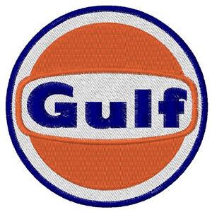 Biker-Racing Fan Aufnäher Gulf OIL  Duchmesser ca 8 cm