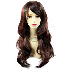 Wiwigs Sexy Long Wavy Dark Brown & Copper Red Skin Top Ladies Wig