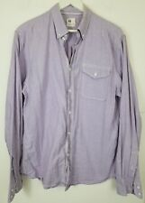 Adriano Goldschmied AG Men's Long Sleeve Button Front Shirt Sz Medium