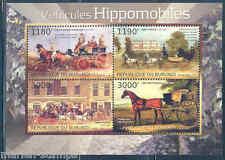 BURUNDI  2012  HORSE DRAWN CARRIAGES  SHEET MINT  NH