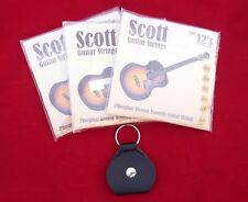 3 Packs conjuntos Scott Guitarra Acústica Cuerdas 12s 0.012 trabajo Lote + Gratis buscar titular