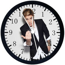 Justin Bieber Black Frame Wall Clock Nice For Decor or Gifts E318