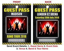 CONCERT EVENT LANYARD Guest Pass Personalised