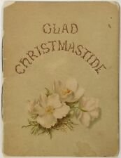 1889 Christmas 'Glad Christmastide' - Jessie Chase and Illustrator Marian Chase