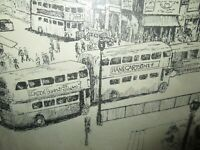 Art by HANS Piccadilly Circus Incredibly Detailed Drawing, Copy of Original