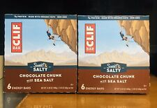 Clif Bar Original Chocolate Chunk with Sea Salt Box. Lot of 2. 12 Bars Total. A+
