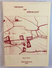 Rare Toponymie Van Anderlecht Belgium Alphabetical History Reference