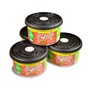 Little Trees Fiber Can Car Air Freshener 4-Pack (Cherry Blast)