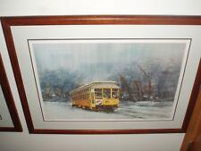 Dave Riebe's S/N framed print #1021/1200 Como Harriet streetcar