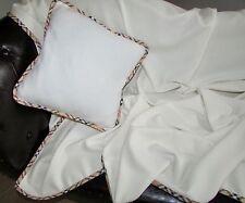 laine COUVERTURE / COUSSIN, Cadeau Set, avec cachemire Part, 140x220 cm