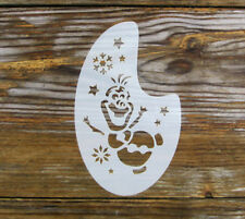 Olaf the Snowman from Frozen Face Painting Stencil approx 12cm x 8cm Reusable