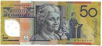 1997 Australia Last Prefix JC97 $50  Polymer Banknote  Circulated