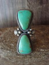 Native American Jewelry Sterling Silver Turquoise Ring! Size 8 - Begay