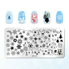 Christmas Snowflake Design Nail Art Stamping Stainless Steel Template Stencil