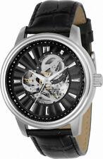Invicta Vintage 22577 Men's Round Black Automatic Leather Analog Watch