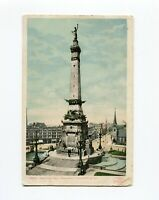Postcard - Army and Navy Monument  Indianapolis Indiana - Undivided back
