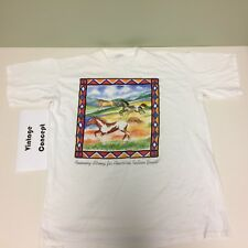 """""""Running Strong for American Indian Youth"""" White T-shirt Size XLarge VTG Style"""