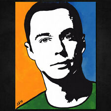 "ORIGINAL SHELDON COOPER Pop Art PAINTING 6"" x 8"". Big Bang Theory! Jim Parsons"