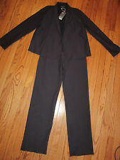 *NWT* EILEEN FISHER 2 PC PANT SUIT SHORT JACKET W/ YOKE VISCOSE OPEN FRONT~SMALL