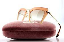 RARE New Genuine MIU MIU Rasoir Pearl Pink Gold Grey Sunglasses SMU 10Q UA8-1L0