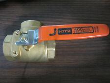 1-1/2'' Kitz # 54P (AKTNP) Bronze 3 Way L Port Ball Valve Threaded End 400 WOG