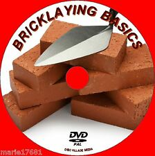 LEARN BRICKLAYING EASY STEP BY STEP BEGINNERS GUIDE DVD NEW FOOTINGS TO FINISH