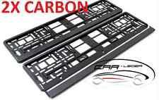 2 Kennzeichenhalter Halter Nummernschildhalter Carbon Optik Skoda SEAT FIAT BMW