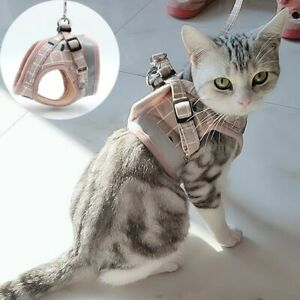 Fashion Plaid Cat Harnesses for Cats Harness and Leash Set Kitten Accessories