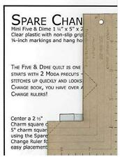 Spare Change Ruler Quilting Sewing Smaller Version of Five and Dime Ruler, New,