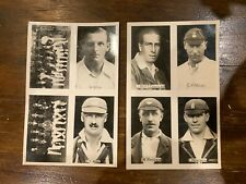 Chums Cricketers cigarette cards, circa 1922, England, sports, 1920s, antique UK