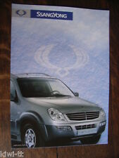 SSANGYONG KORANDO (cabriolet, Tolé), Musso Sport, Rexton prospectus, F, 8.2004