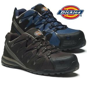 MENS DICKIES SAFETY TRAINERS SHOES ANKLE BOOTS WORK COMPOSITE TOE CAP HIKER NEW