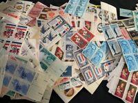 200+ Vintage MINT US Stamps 4c 5c 6c US POSTAGE Old Stamps Blocks Multiples
