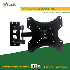 Support Mural TV Inclinable et Orientable Pivotant écran Plat LCD VESA 200×200mm
