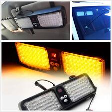 1Pc 86LED Warning Lamp Amber Car Sun Visor Hazard Bright Strobe Flash Light