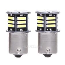 2x Canbus No Error White LED Tail Backup Reverse Light Bulb BA15S 1156 7506 E0Xc