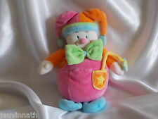 Doudou clown  multicolore, grelot, Jollybaby