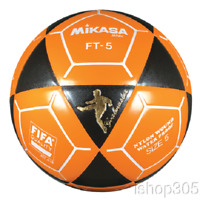 Mikasa FT5 Goal Master Soccer Ball Size 5 Black/Orange Official Footvolley Ball