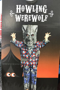 Halloween Boys Girls Howling Werewolf Costume Fancy Dress Age 3-4 Years - New