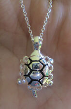 Sterling Silver Turtle Tortoise Pendant Necklace