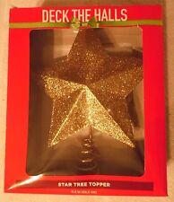 """A Gold  Star  Glitter  Tree  Topper  11.5"""" Tall   (X-1475)"""