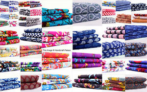 100% Cotton Fabric Hand Print Sewing Dressmaking Clothes Handmade DIY Handcrafts