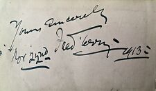 FRED TERRY / VERONICA BRADY FAMOUS ACTORS c 1910 GENUINE AUTOGRAPHS